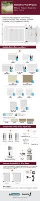Veranda Linden 6 Ft H X 8 Ft W White Vinyl Pro Privacy Fence Panel Kit 73013298 The Home Depot