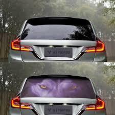 3d Transparent Auto Car Back Rear Window Decal Vinyl Sticker Horror Wolf 1pcs For Sale Online Ebay