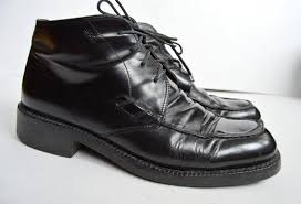 hugo boss leather boots men s black