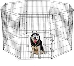 Amazon Com Ssline Dog Exercise Pen Folding Metal Pet Playpen 36 Tall Dog Crate Fence With Door Portable Pet Kennel Animal Exercise Playard Indoor Outdoor Use Pet Supplies