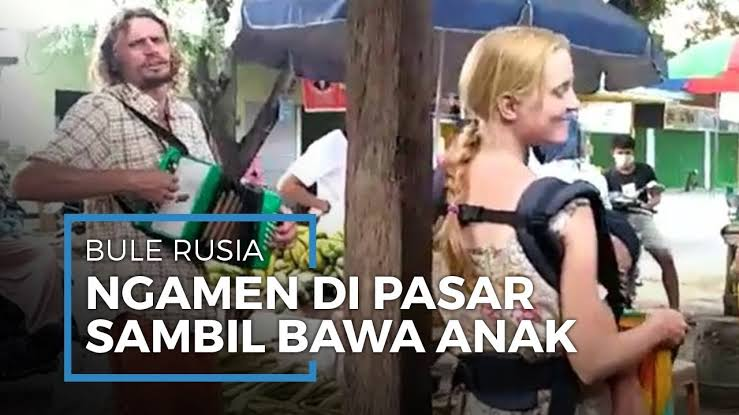 Viral! Video Pasutri Asal Rusia Rela Ngamen Sambil Gendong Anak, Buat Beli Makan