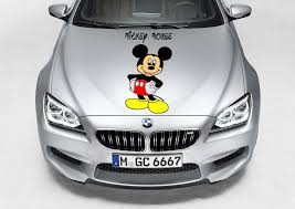 Mickey Mouse 28h X 14 Car Truck Hood Side Vinyl Decal Graphic Ebay Car Vinyl Decals Cars Trucks