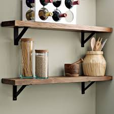 salvage wood shelves with simple metal