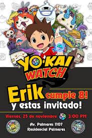 Yo Kai Watch Invitaciones Personalizadas Las Creamos A Partir Del
