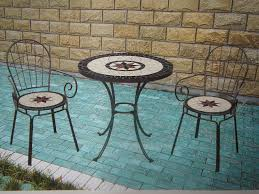 chairs set ceramic tile mosaic