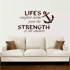 Anchor Wall Decal Quotes Nautical Sayings Wall Vinyl Sticker Bedroom Decor Diy Self Adhesive Removable Wallpaper Mural W712 Anchor Wall Decal Wall Decals Quotesbedroom Decor Aliexpress