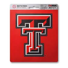 Texas Tech Matte Decal Fanmats Sports Licensing Solutions Llc