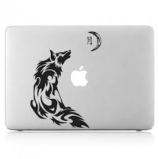 Wolf Moon Laptop Macbook Vinyl Decal Sticker