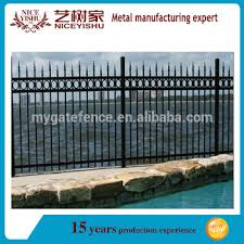 2016 Top Sale Philippines Gates And Fences Decorative Wrought Iron Fence Panels Ornamental Iron Spearhead Iron Fence View Used Wrought Iron Fencing Yishujia Yishujia Product Details From Shijiazhuang Yishu Metal Products Co Ltd On