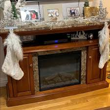wood fireplace finish granite top
