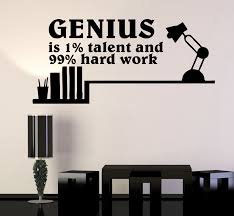Wall Decal Genius Talent Words Quotes Motivation Inspiration Science V Wallstickers4you