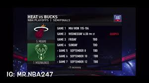 Milwaukee Bucks vs Miami Heat Game 1 ...