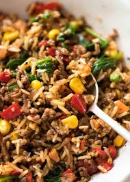 beef and rice with veggies recipetin eats