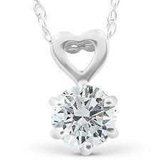 heart pendant necklace 14k