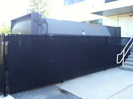 Rd Fence Company Compactor Enclosure Black Vinyl Chain Link With Privacy Slats Image Proview