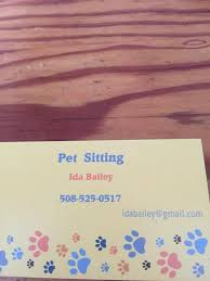 Pet sitting by IDA Bailey - Home | Facebook