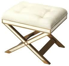 butler marlo mirrored vanity stool