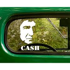 Amazon Com 2 Johnny Cash Decal Country Band Stickers White Die Cut For Window Car Jeep 4x4 Truck Laptop Bumper Rv Home Kitchen