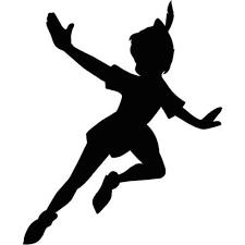 Peter Pan Disney Fly Decal Diecut Vinyl Sticker Car Window Wall Walt Disneyland Peter Pan Silhouette Peter Pan Shadow Peter Pan And Tinkerbell