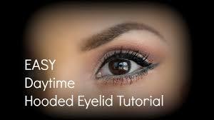 easy hooded eyelid tutorial for daytime