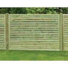 Slatted Fence Panel 1800mm X 1200mm Worcester Timber Products