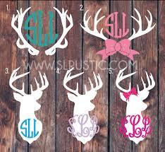 Deer Antler Monogram Decal Car Decal Yeti Decal Hunting Decal Slrustic