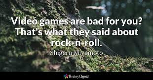 shigeru miyamoto video games are bad for you that s