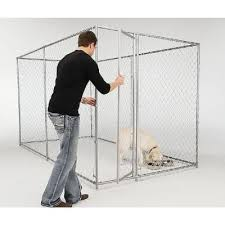 American Kennel Club 6 Ft X 10 Ft X 6 Ft Chain Link Kennel 308595akc At The Home Depot American Kennel Club Dog Essentials Kennel