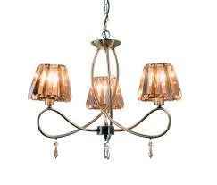 antique brass with amber crystal shade