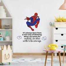 Shop Now For The Design With Vinyl Spiderman Be Average Vinyl Wall Decal Timmy 1585 Size 40 H X 35 W Fandom Shop