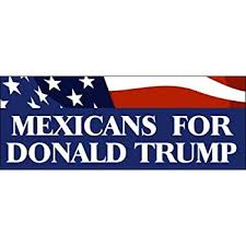 Amazon Com Lpf Usa Mexicans For Donald Trump Bumper Sticker Vote 16 2016 Party Automotive