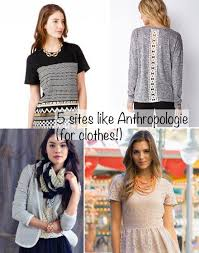 5 sites like anthropologie for clothes