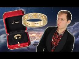 unboxing a cartier diamond love ring