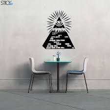 Illuminati Pyramid Decal For Walls Stickany