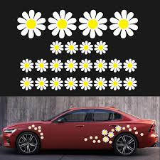 48pcs Daisy Flower Personalized Car Stickers Pvc Practical Beautiful Auto Styling Decorative Decals Wholesale Quick Delivery Csv Car Stickers Aliexpress