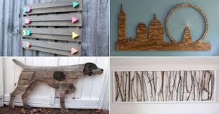 27 wonderfully easy diy wood wall art ideas
