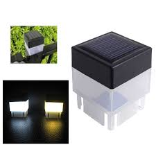 Led Fence Light Post Cap Light For Outdoor Garden Garland Yard Pool Lamp Floodlights Waterproof Square Emergency White Lights Solar Lamps Aliexpress