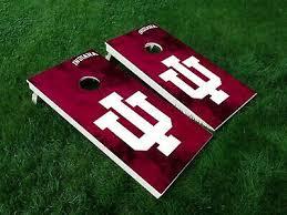 Iu Indiana University Cornhole Bag Toss Decal Set Over 25 Decals Personalized 39 00 Picclick