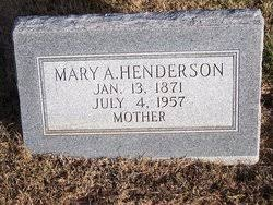 Mrs Mary Addie Johnston Henderson (1871-1957) - Find A Grave Memorial