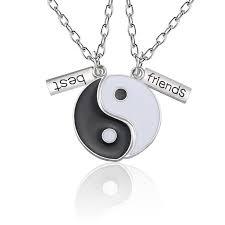 best friends pendant necklace women yin