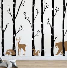 Forest Wall Decals Birch Tree Wall Decal Db458 Designedbeginnings