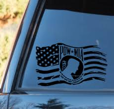 Pow Mia You Are Not Forgotten Waving Distressed Flag Vinyl Decal 10 Donated Ebay