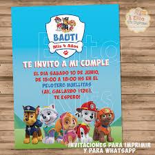 Kit Imprimible Patrulla Canina Paw Patrol Decoracion Fiesta De