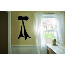 Custom Wall Decal Ribbon Bow Silhouette Design 20x40 Inches Walmart Com Walmart Com