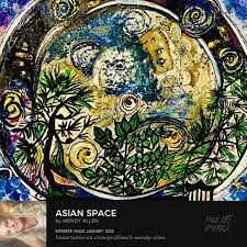 Asian space Painting by Wendy Allen