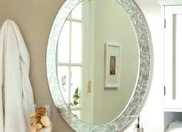 oval vanity mirror with lights tray