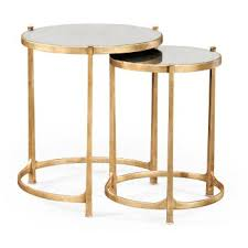 nest of mirrored tables gold sy