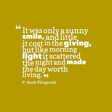 f scott fitzgerald quote about smile