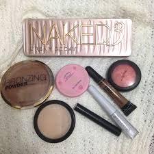 h m bronzer etude house and mac blush