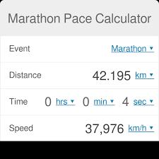 marathon pace calculator omni